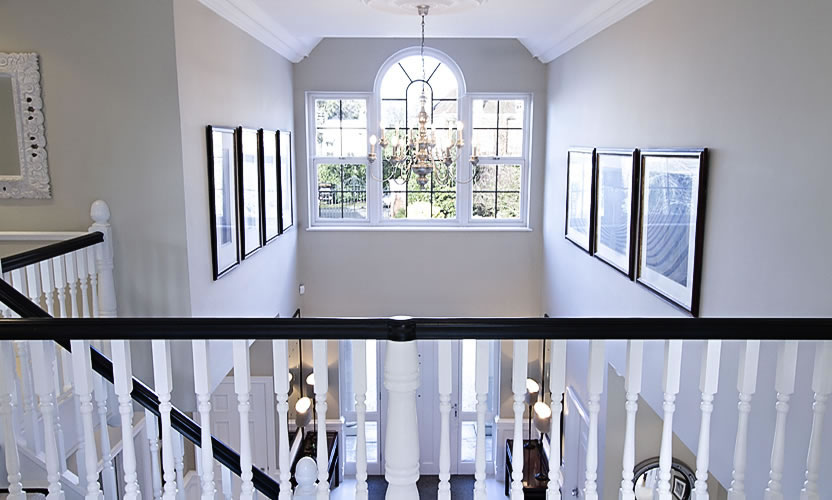 View of entrance hall from first floor